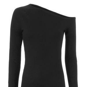 Helmut Lang Asymmetric Shoulder Top